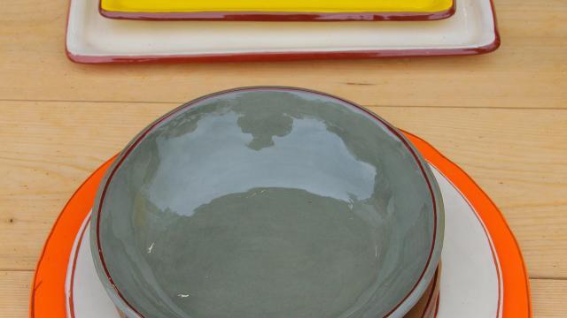 Assiettes Marche Ceramique Argile Et Couleurs Oti Aubagne