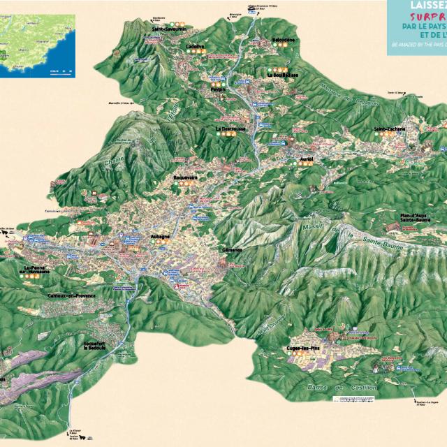 Carte Touristique Pays D'aubagne Et De L'Étoile