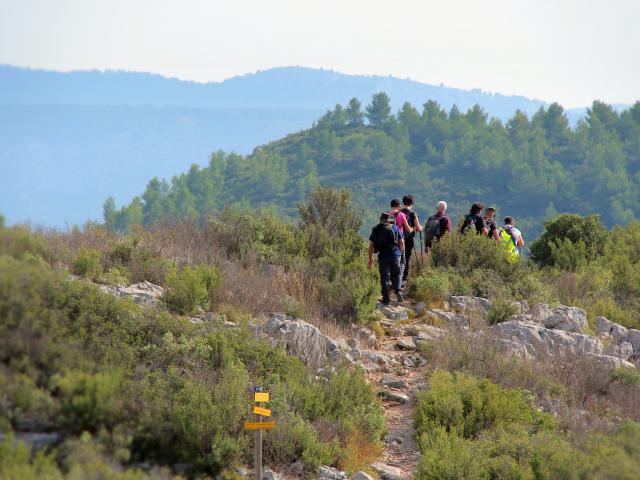 Randonneurs Sentier Massif De L'etoile Nature Oti Aubagne