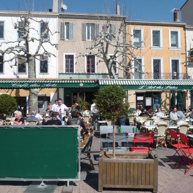 Café des Arts -restaurant terrasse - OTI_Aubagne